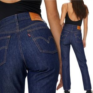 Levi's 501 High Rise Button Fly Straight Leg Jeans